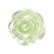 Rosen Perlen 10mm Celery ice green-silber coating