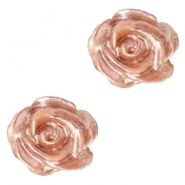 Rosen Perlen 6mm Weiss-ginger rose pearl shine