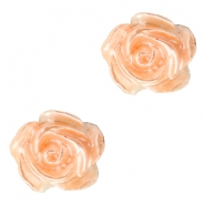 Rosen Perlen 6mm Weiss-fresh peach pearl shine
