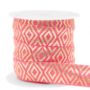 Elastisches Band Art Deco Rouge pink-gold