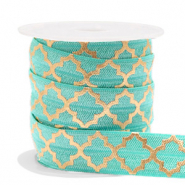 Elastisches Band Moroccan pattern Turquoise-gold
