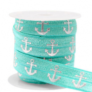 Elastisches Band Anker Turquoise-silver
