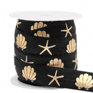 Elastisches Band Shell/Sea Star Black-gold