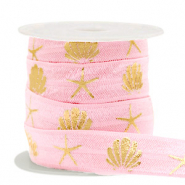 Elastisches Band Shell/Sea Star Vintage pink-gold