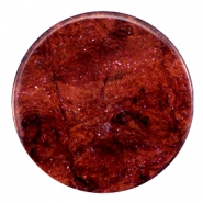 35 mm flach Cabochon Polaris Elements Stardust Port royale red