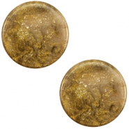 12 mm flach Cabochon Polaris Elements Stardust Warm taupe brown