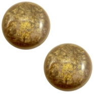 20 mm classic Cabochon Polaris Elements Stardust Warm taupe brown